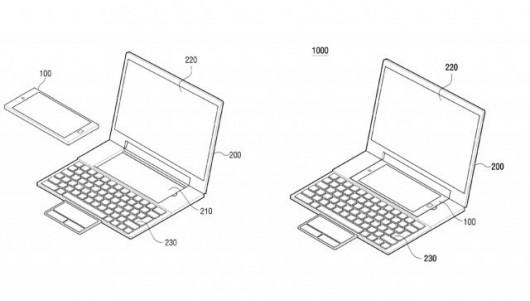 Samsung планирует выпустить смартфон в ноутбуке
