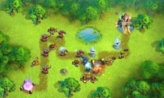 Towers N' Trolls - защита территории