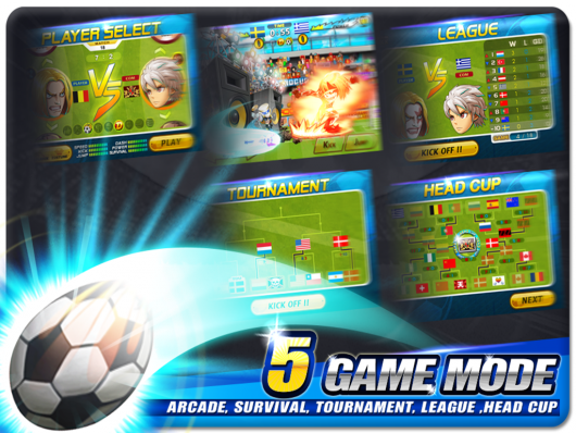 Head Soccer - мировой футбол