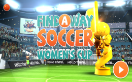 Find a Way Soccer: Women's Cup - меню