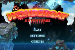 WonderCat Adventures - меню