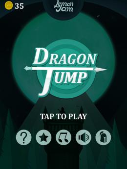 Dragon Jump - меню