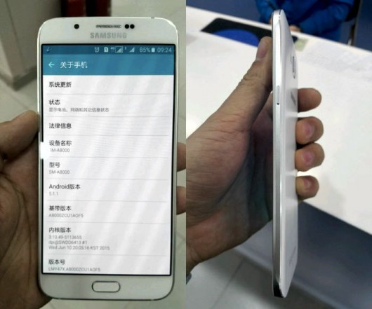 Основные характеристики Samsung Galaxy A8