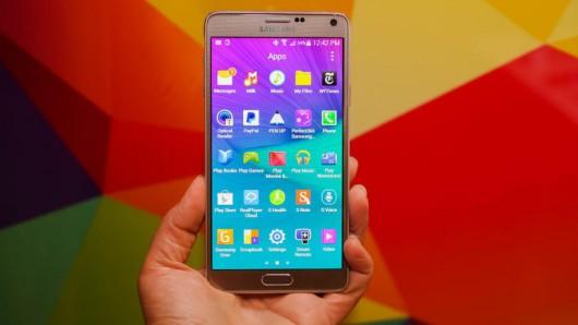 Информация об обновлении смартпэда Samsung Galaxy Note 4