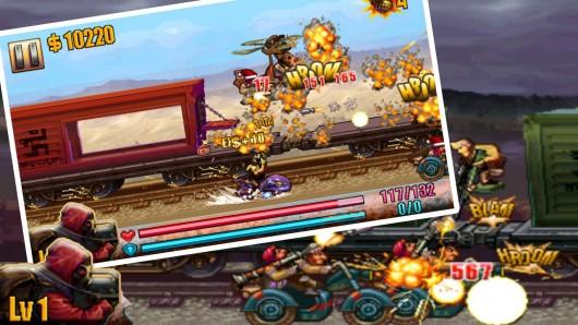Metal Warrior X - взрывы и бои