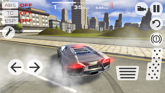 Extreme Car Driving Simulator - скорость
