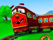 Puzzle Trains - веселый паровоз