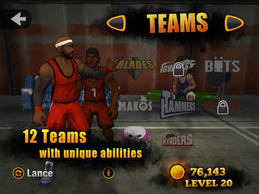 Jam City Basketball - динамика матчей