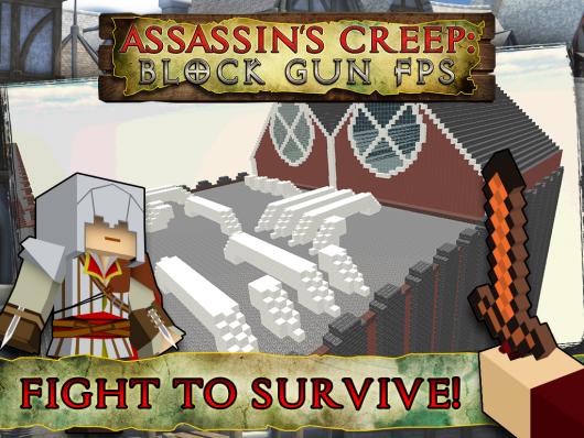 Assassin Mission Block Gun  - динамичные приключения