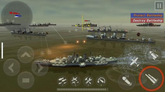 Warship Battle:3D World War II - динамичный бой