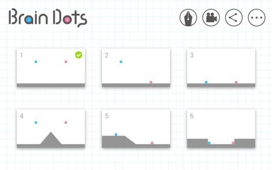 Brain Dots - много уровней