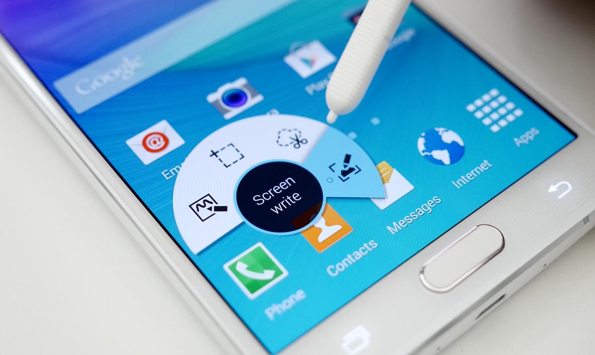 Samsung Galaxy Note 5 и механизм извлечения стилуса