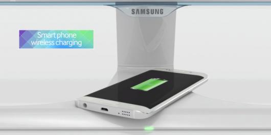 Беспроводная зарядка в мониторе от Samsung