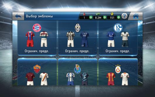PES CLUB MANAGER - футбольные команды
