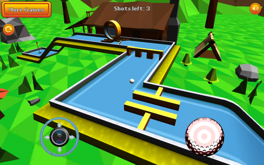 Mini Golf: Retro - крутая стилистика
