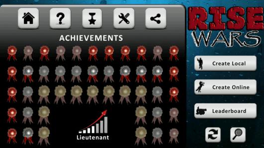 Rise Wars - достижения