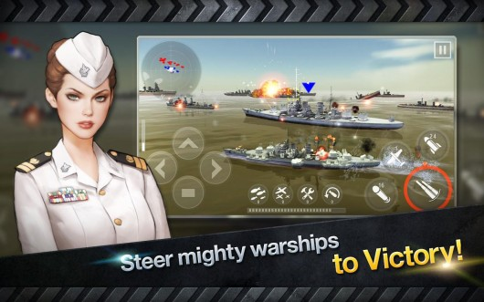 Warship Battle:3D World War II - удобное управление