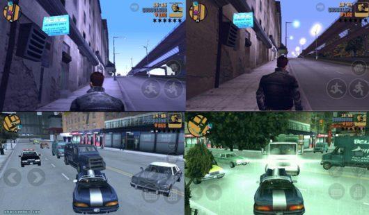 Несколько скрин шотов из игры GTA 3 для андроид