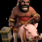 Нарисованный негр верхом на свинье