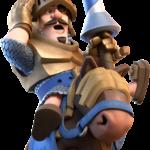 Нарисованный рыцарь на коне