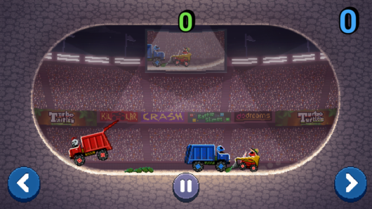 Два нарисованных грузовика из игры Drive Ahead