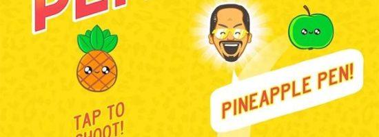 Нарисованные ананасы и шариковые ручки из игры Pineapple pen