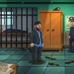 Бородач стоит в отделении полиции