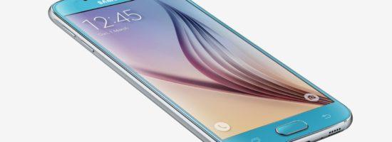 Фотография Samsung Galaxy S6 на белом фоне