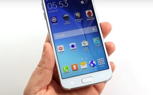 Пример некачественного дисплея копии Samsung Galaxy S6