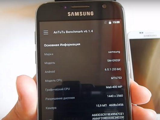 Пример технических характеристик копии Samsung Galaxy S7