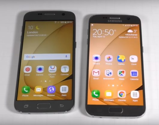 Сравнение дисплеев копии и оригинала Samsung Galaxy S7