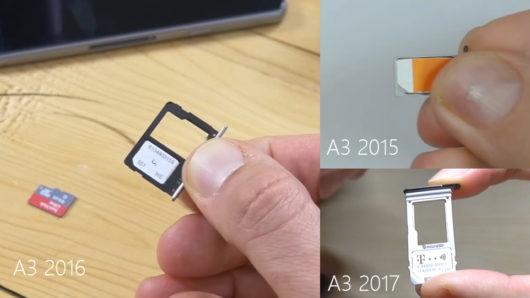 Размещение SIM-карты в держателе