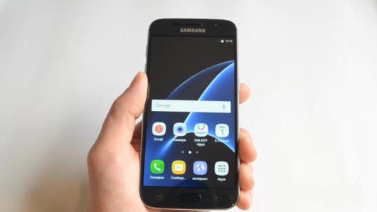 Пример частичного перевода интерфейса копии Samsung Galaxy S7