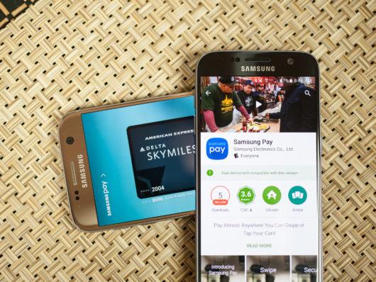 Приложение Samsung Pay недоступно для устройств без обновлённой версии прошивки и для смартфонов других производителей
