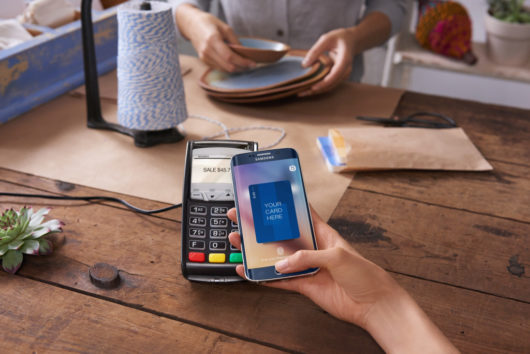 Пример проведения платежа с помощью Samsung Pay