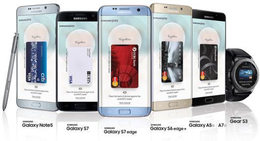 Перечень устройств с поддержкой Samsung Pay
