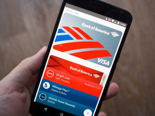 Главный экран Android Pay