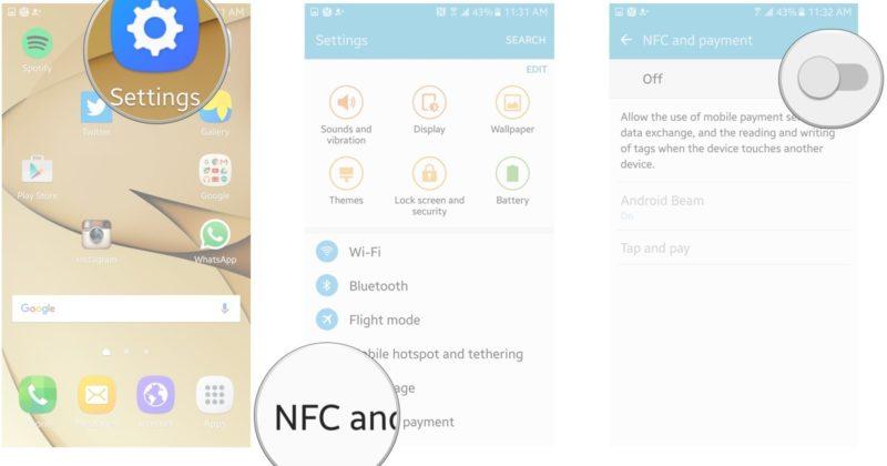 Как включить NFC на Samsung
