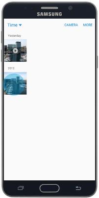 Передача файла через NFC смартфона Samsung